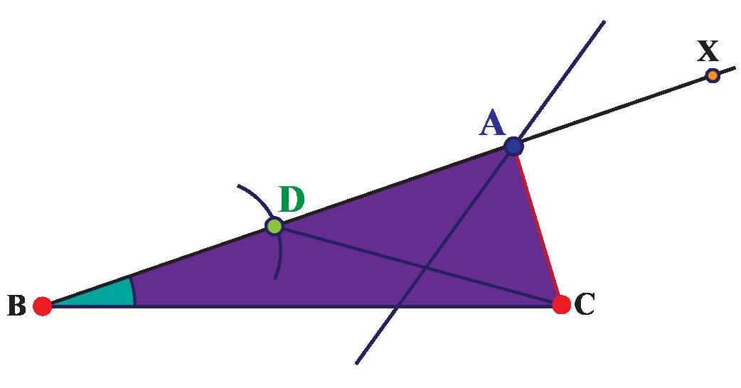 Perpendicular bisector of vertex