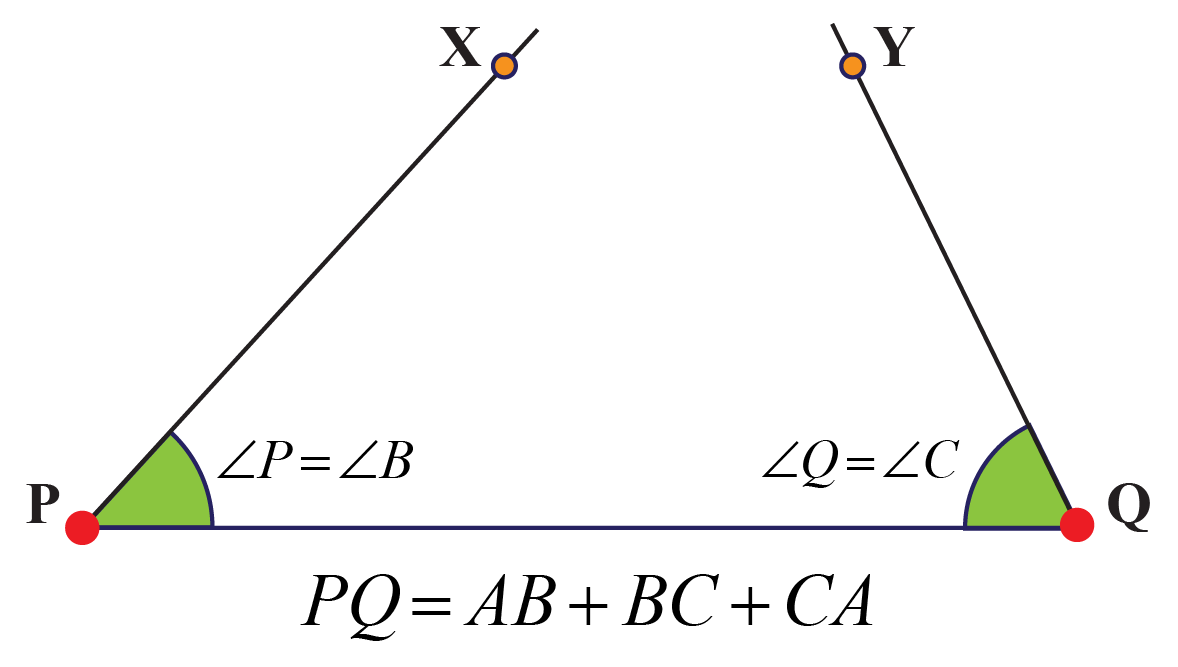 Segments of triangle