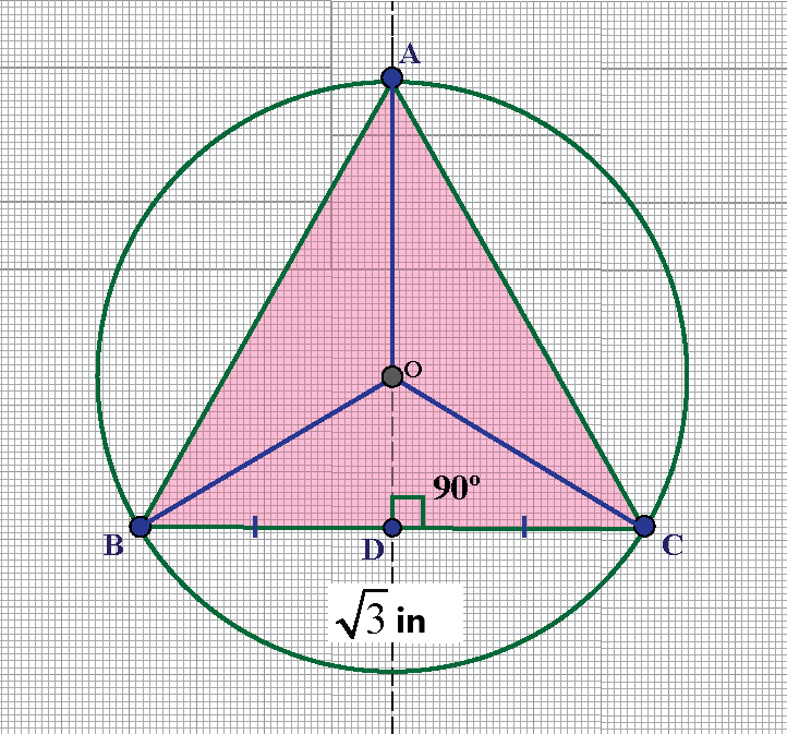 circumcenter of an equilateral triangle