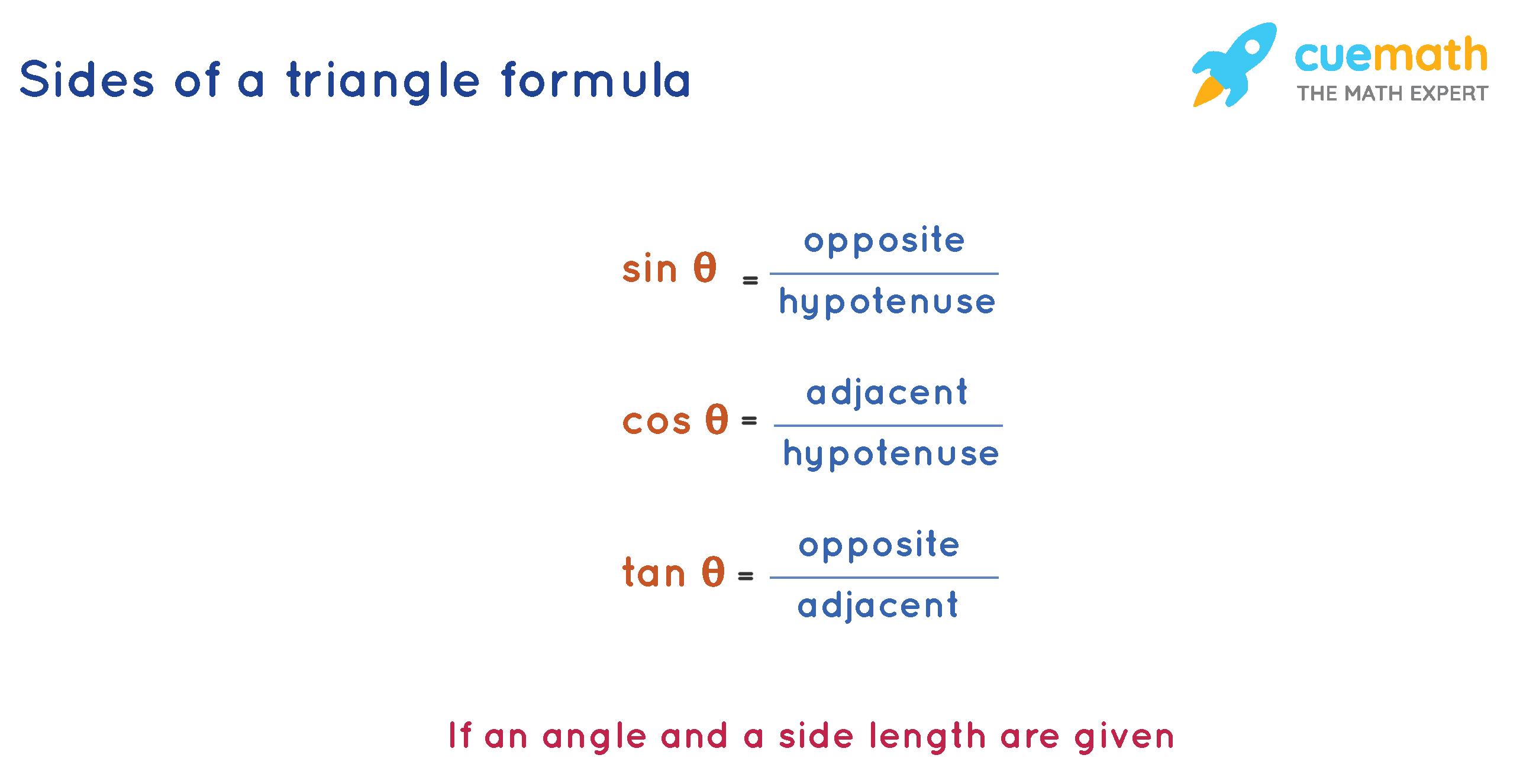 sides of a triangle formula