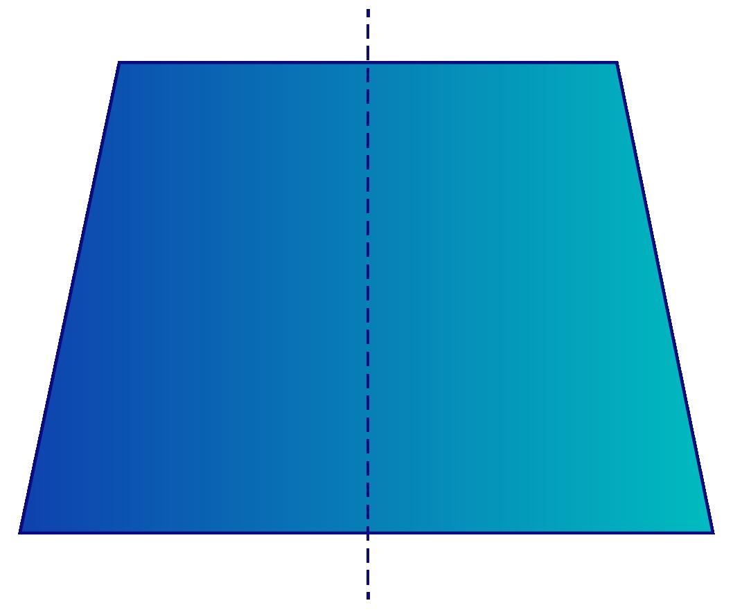 Isosceles trapezoid properties - Axis of symmetry