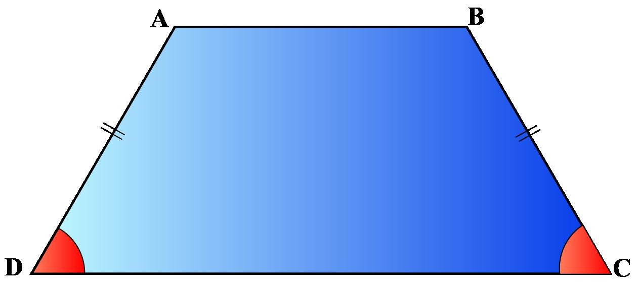 Isosceles trapezoid properties- Base Angles of isosceles trapezoid are equal