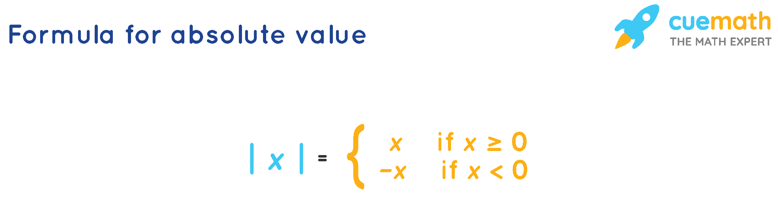 Formula for absolute value