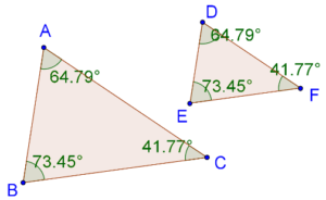 Equi-angular or similar triangles