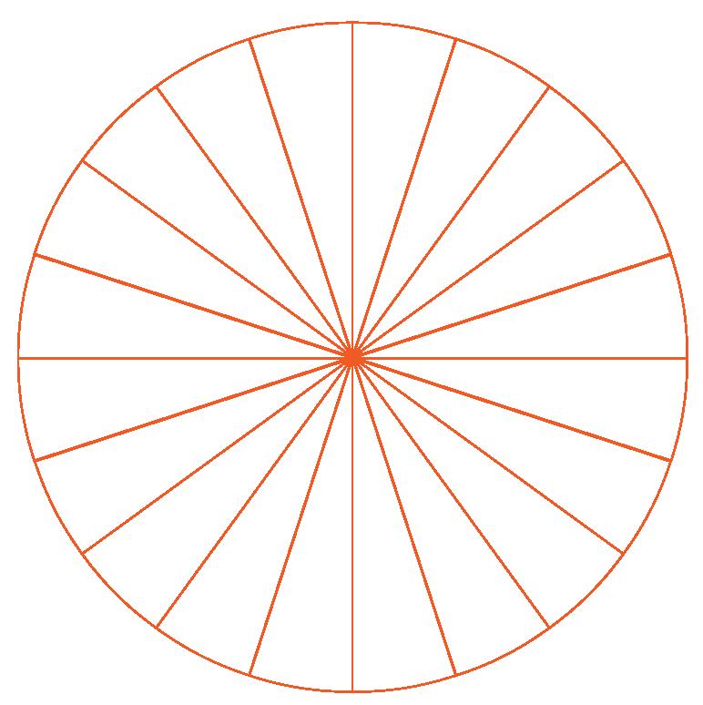 Circle shaped like a wheel