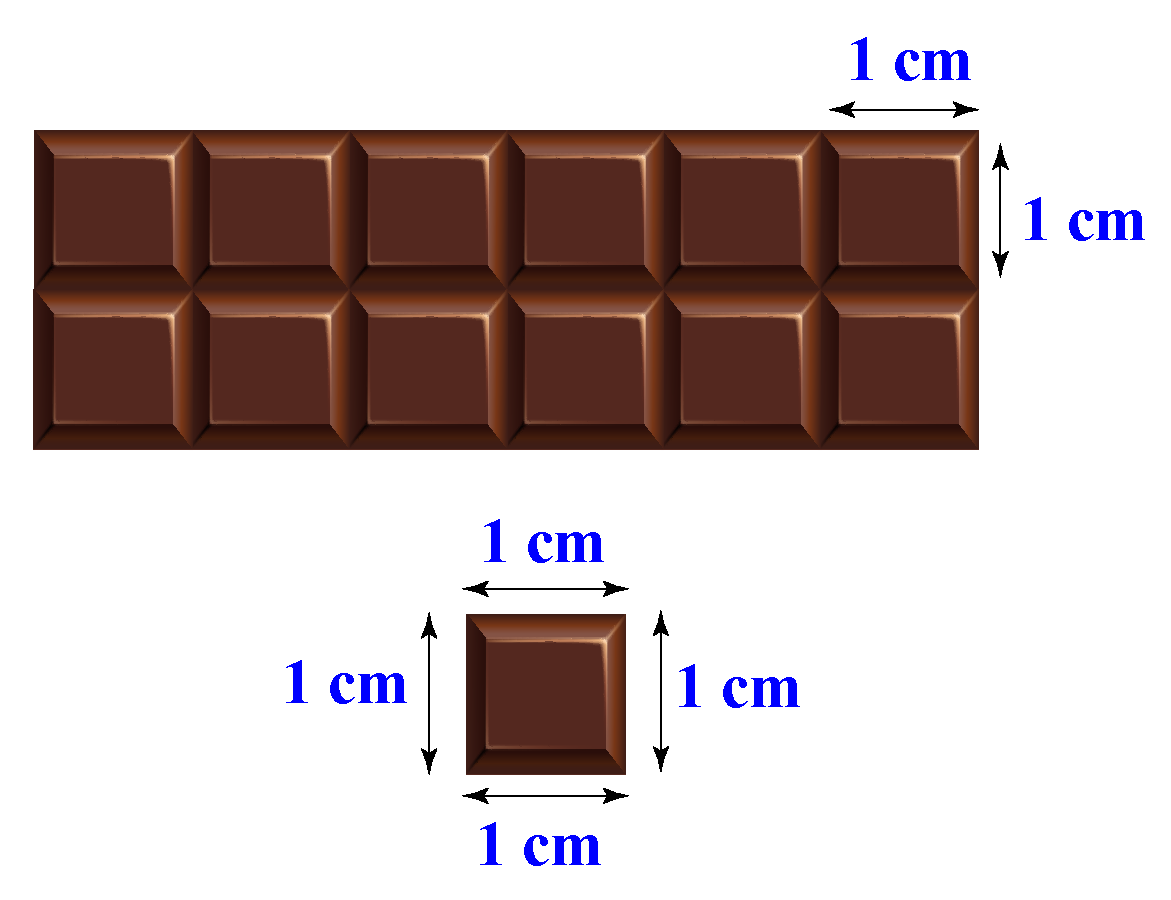 Chocolate bar and a 1 unit piece