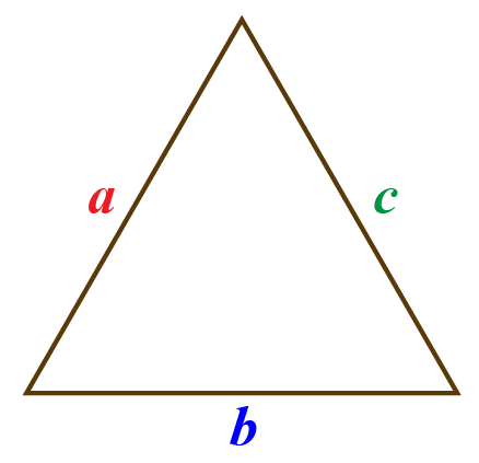 a scalene triangle with sides measuring 7 cm 8 cm and perimeter 13 cm