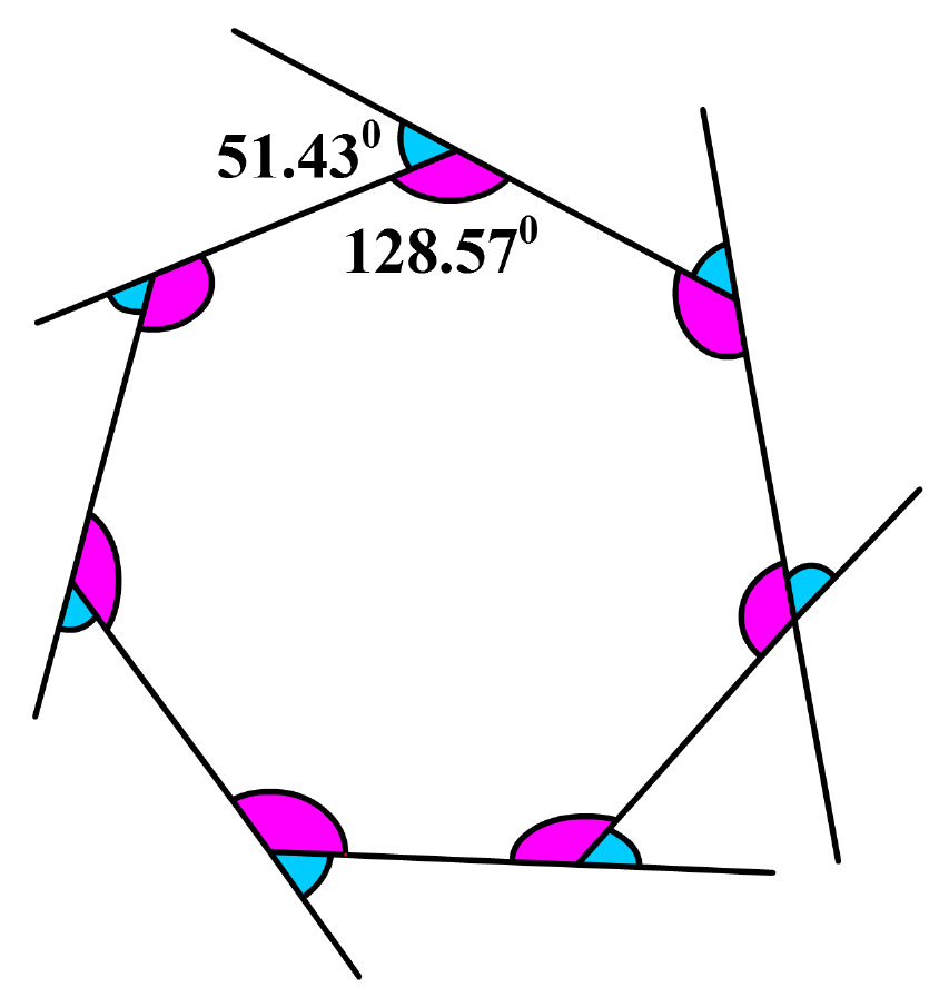 Heptagon with angles marked