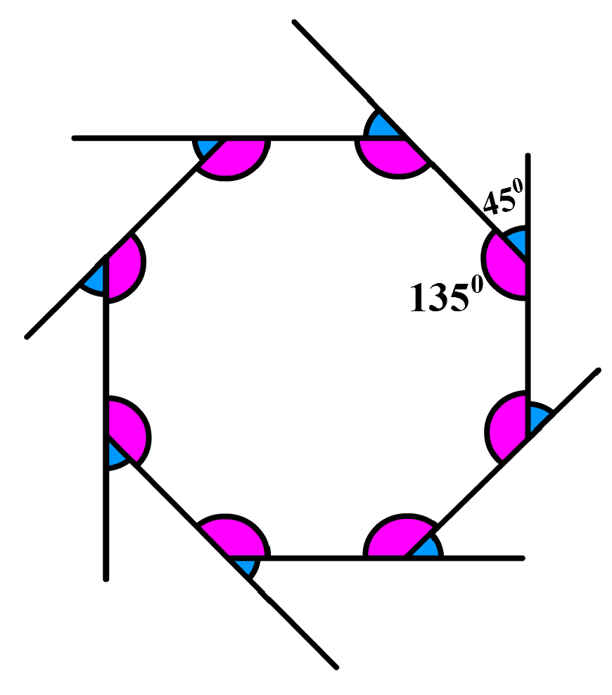 Octagon with angles marked