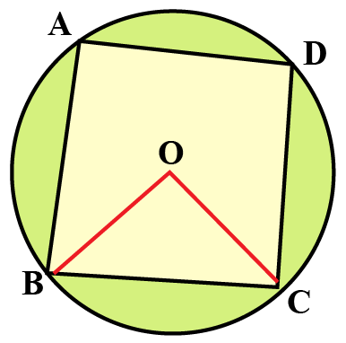 cyclic quadrilateral ABCD on a circle whose center point is O