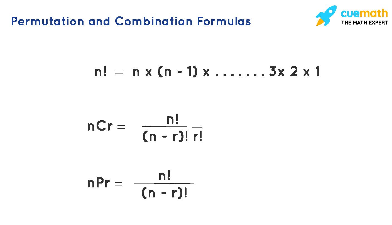 Permutation and Combination Formulas
