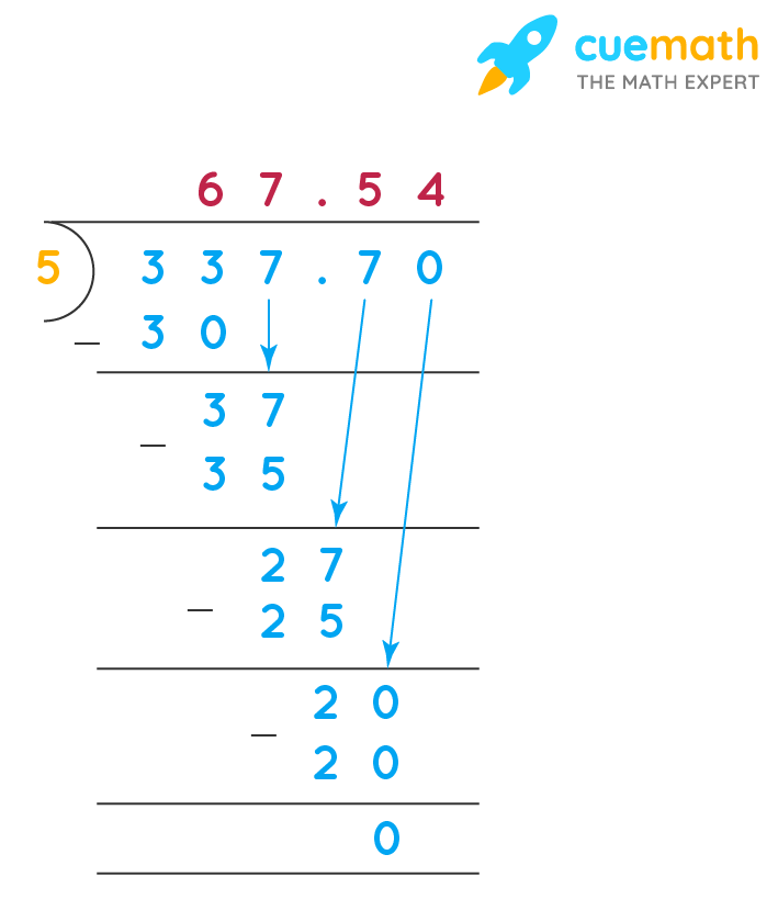 dividing decimals by whole number