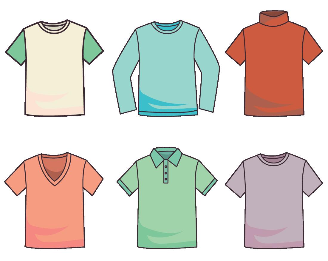 range of shirts