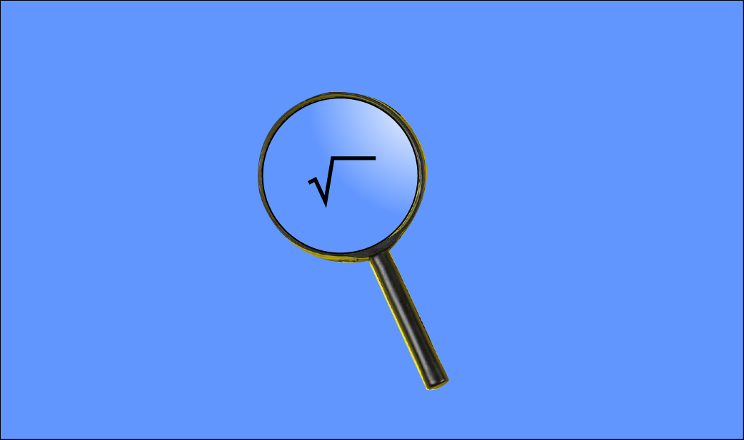 Magnifying Glass for Square Root