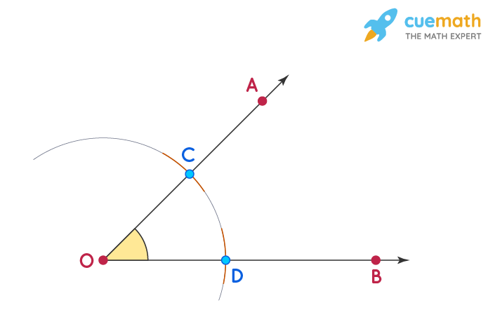Angle Bisector Construction Step 1