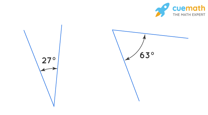 complementary angles 27 and 63