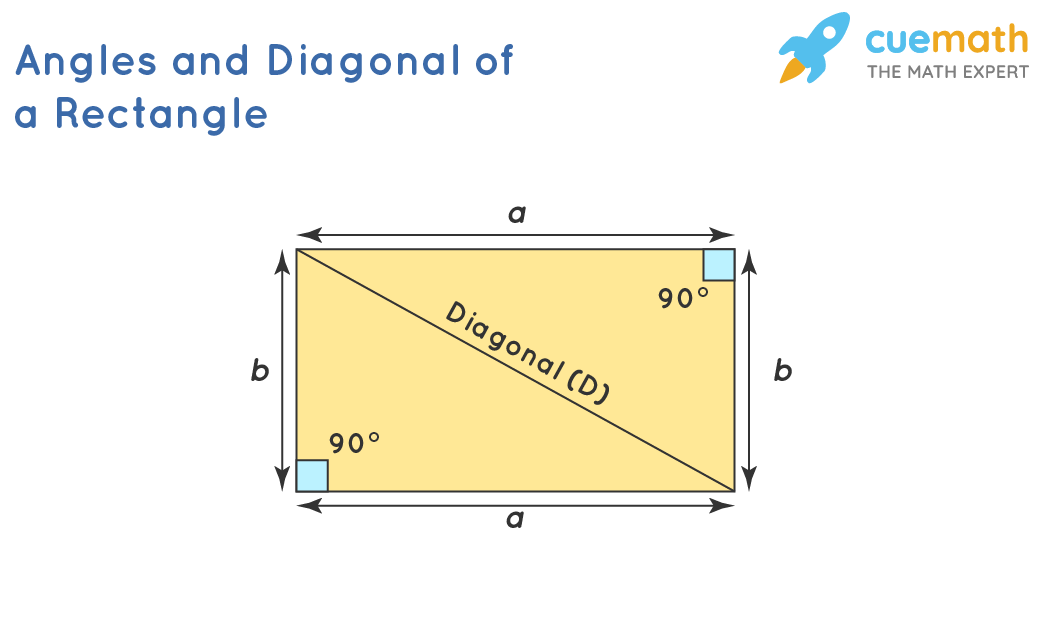 Angles and Diagonal of a Rectangle