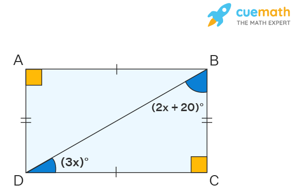 Angles of Rectangle: Find x