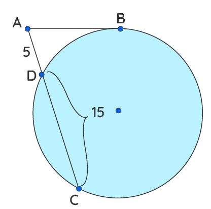 apply secant tangent rule