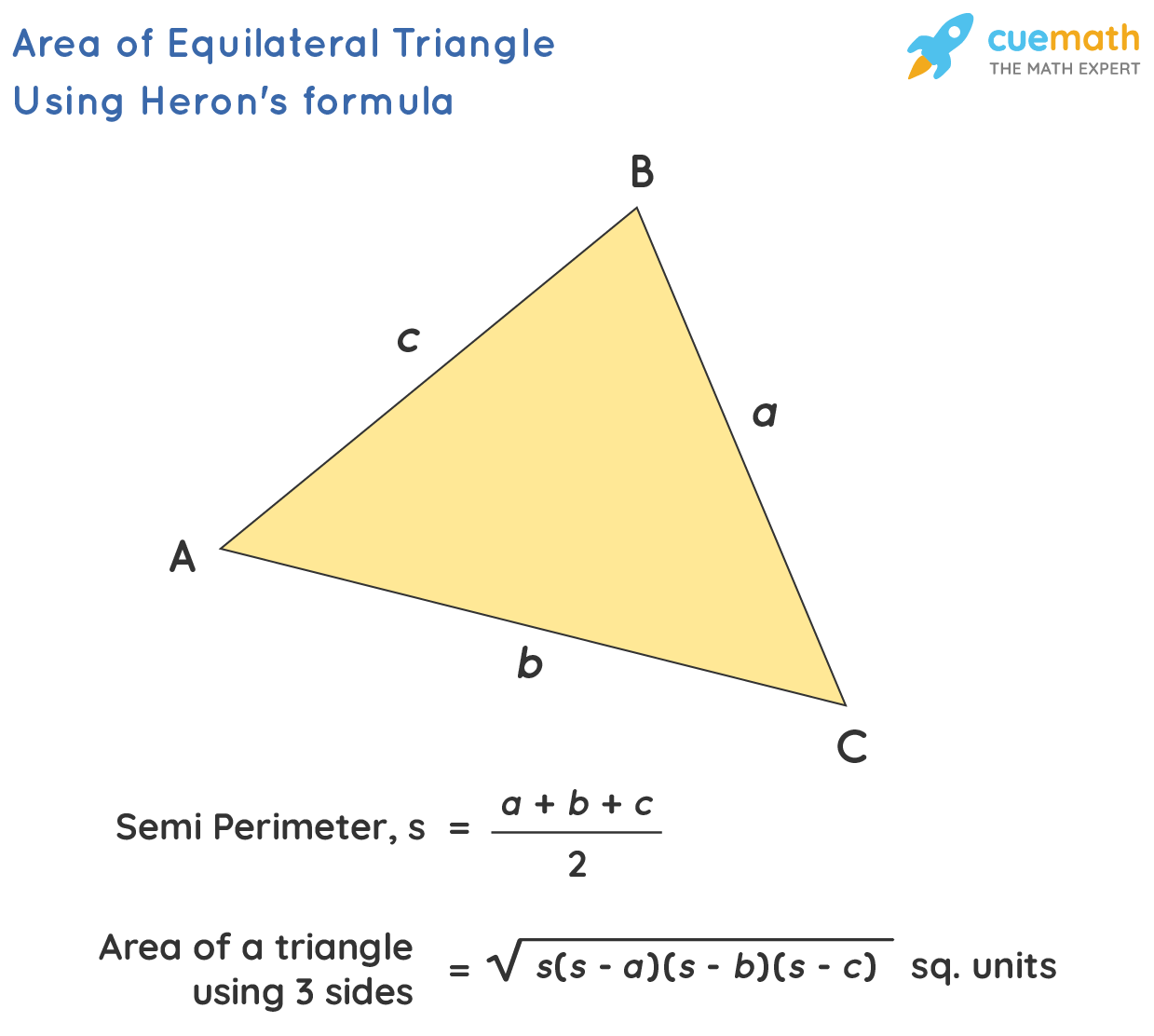area of triangle by using heron's formula
