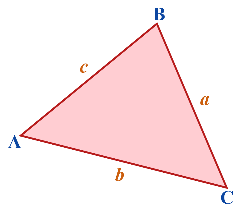 Area of triangle with 3 sides a, b, and c