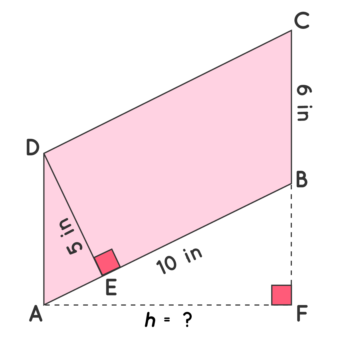 Area of Parallelogram Example