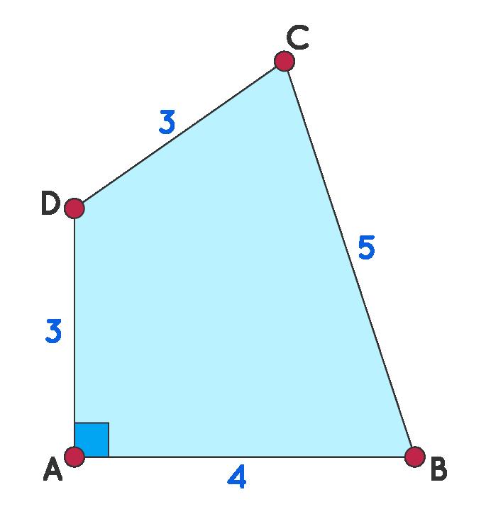 Area of Quadrilateral using Heron's Formula