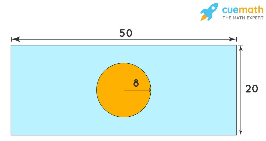 Area of the shaded region of a rectangle