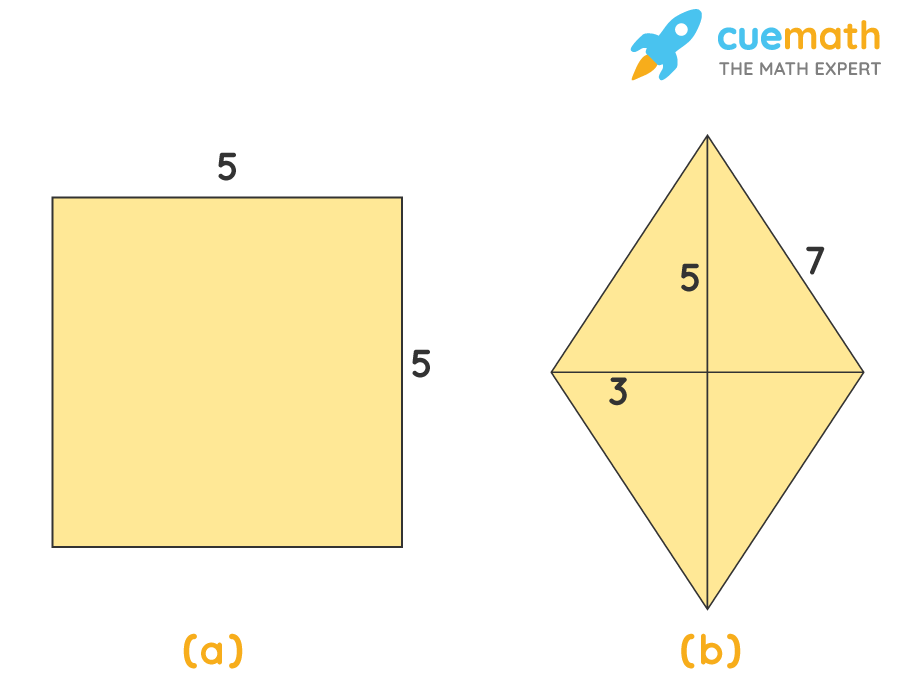 the area and perimeter for each quadrilateral