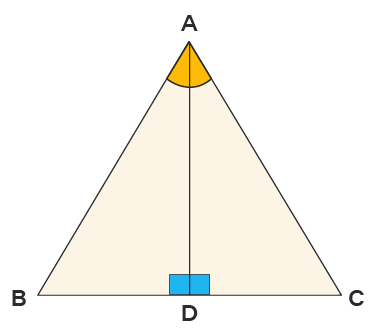 ASA Congruence Rule Example for Δ ABC with bisector AD
