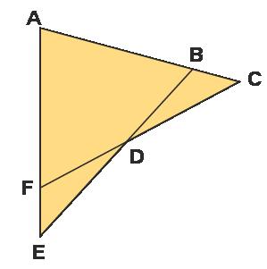 ASA Congruence Rule Example: Prove that △ACF≅△AEB