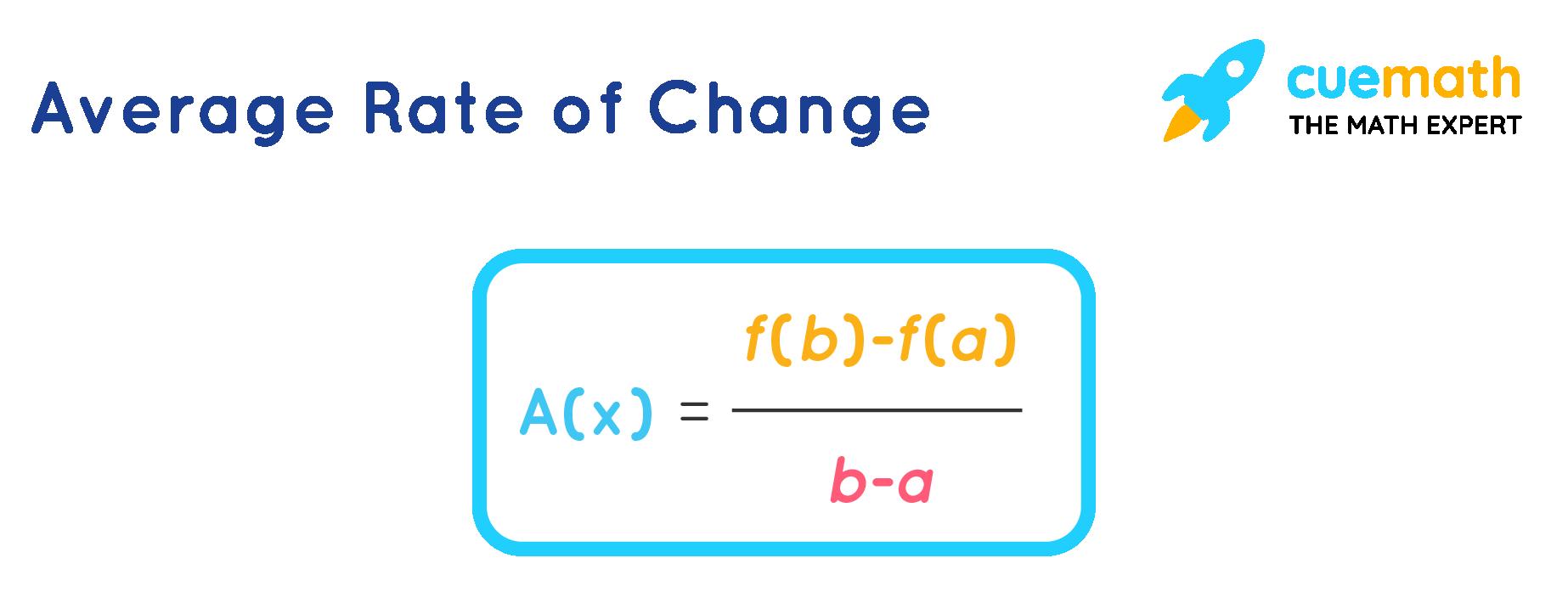 Average Rate of Change Formula