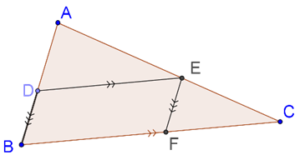 Similar triangles are equi-angular