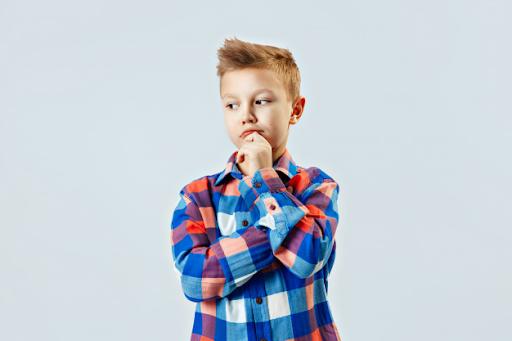 Kid deciding