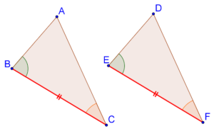 Superimposing two triangles
