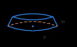 Height and radius of cone slice