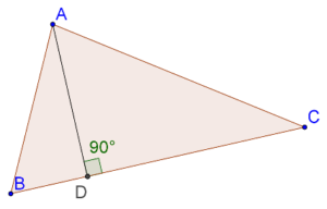 Perpendicular dropped from vertex
