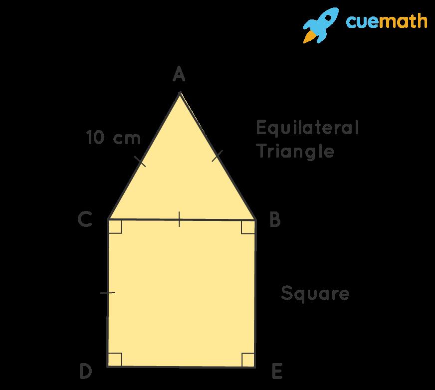 Area of composite figure.