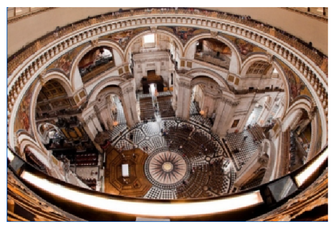 whispering gallery in the shape of an ellipse