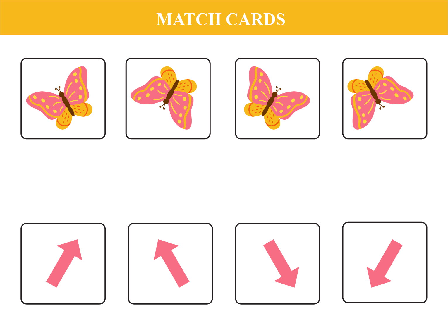 match according to the direction