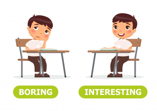Boring and interesting illustration, student engagement increases with quizzing
