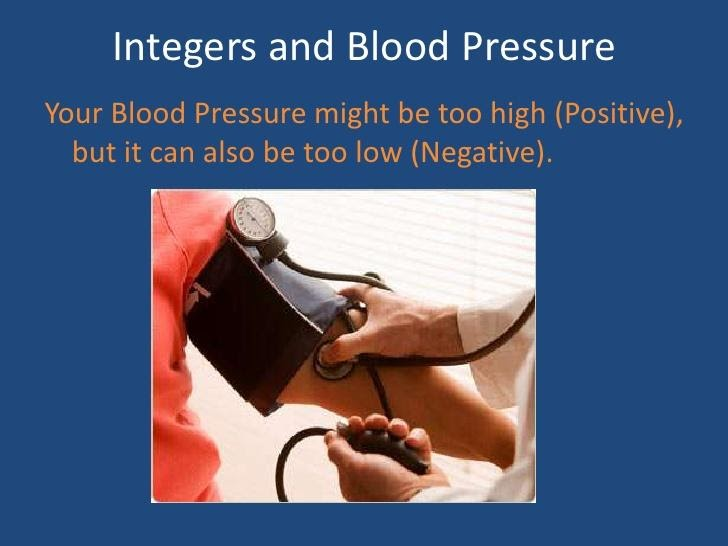 integers and blood pressure