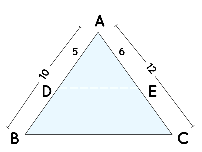 Basic proportionality theorem for example 1