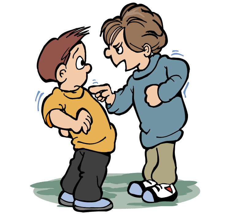 A kid bullying another kid