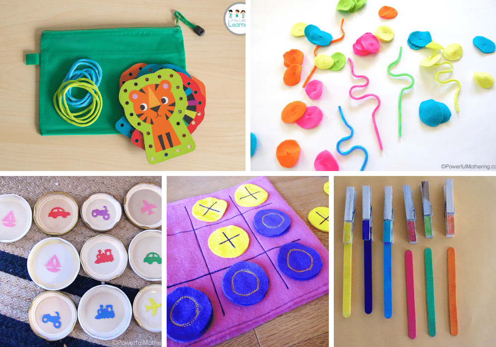 Busy bag activities for ADHD children