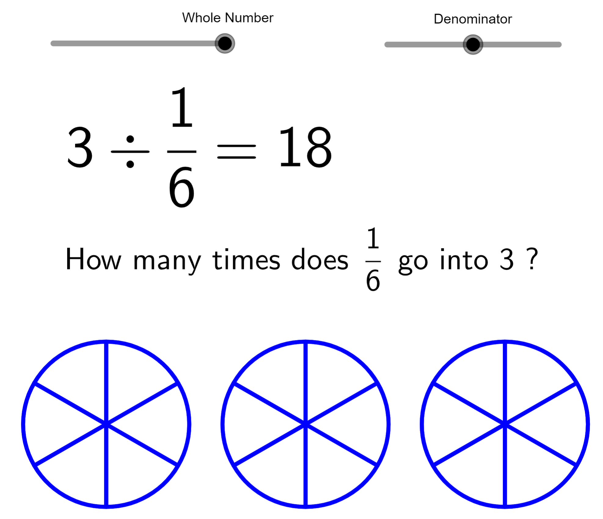Division of decimals by whole numbers