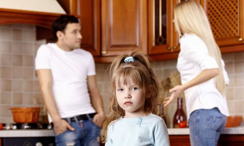 Child who is ignored by parents