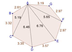 Area of 7-sided polygon