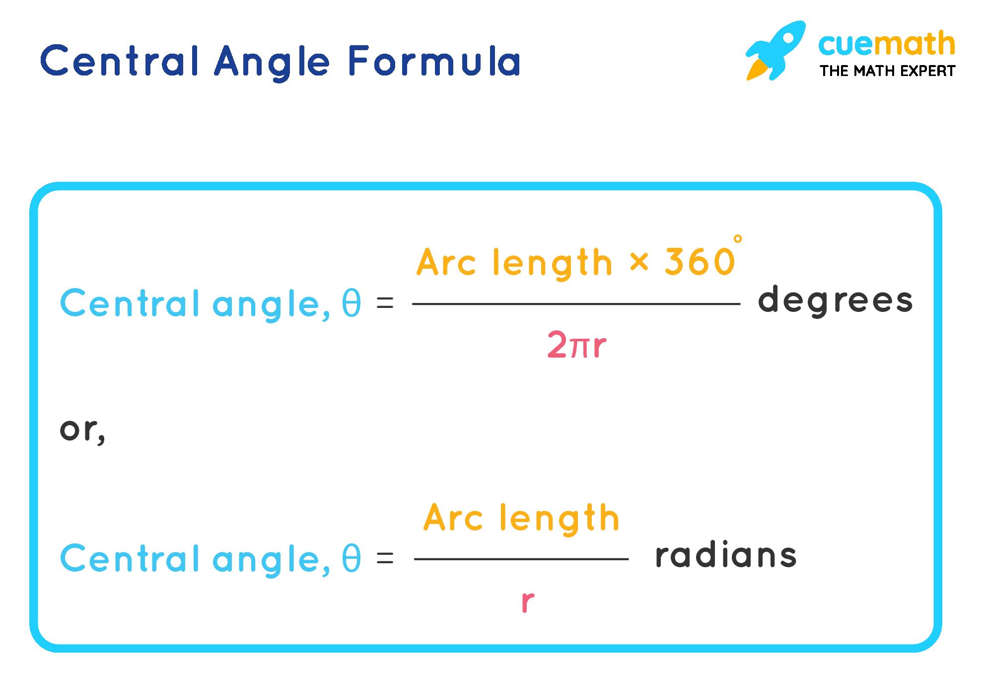Central angle formula