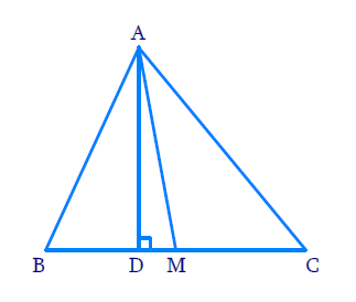 AD is a median of a triangle ABC and AM